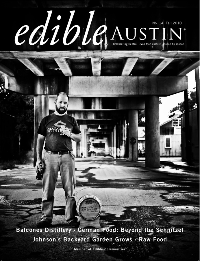 On the cover of Edible Austin Magazine