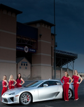 Austin commercial photographer captures this image of the all-new Lexus LFA, by Dustin Meyer Photography.