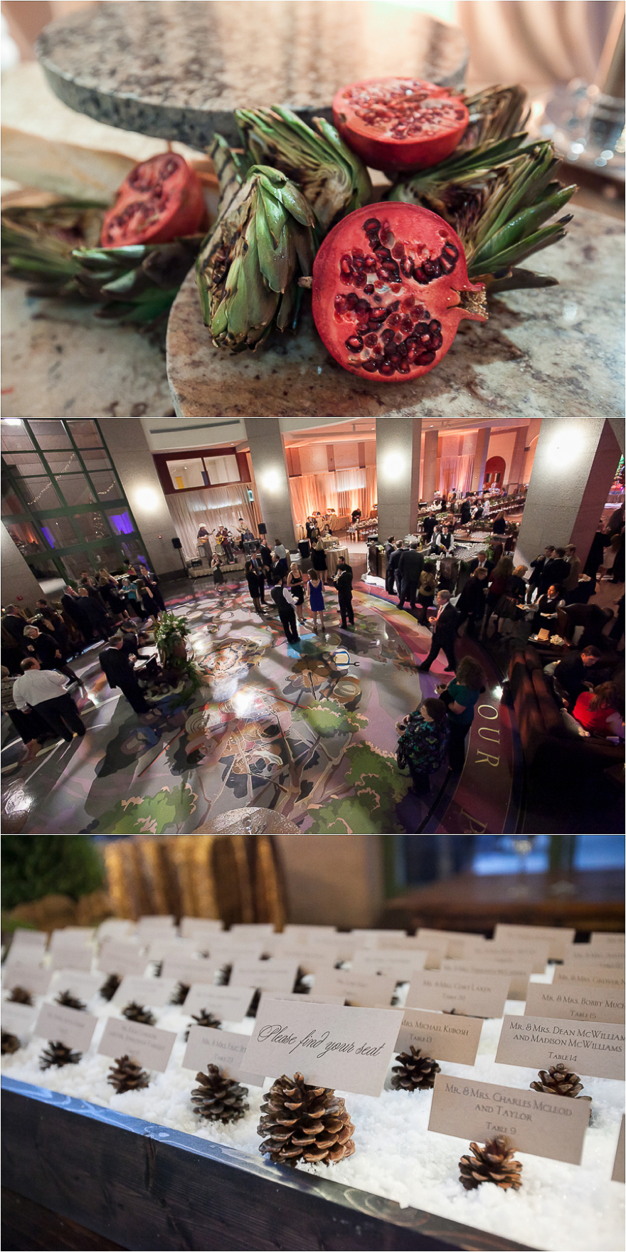 Location shot of a wedding reception held at the Bob Bullock Texas State history Museum