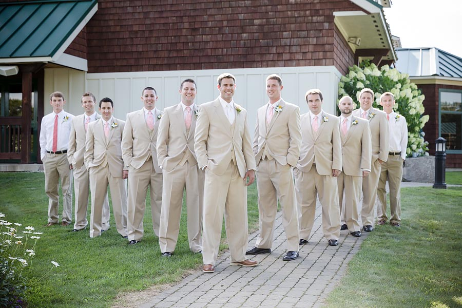 wedding groom and groomsmen suit and tie