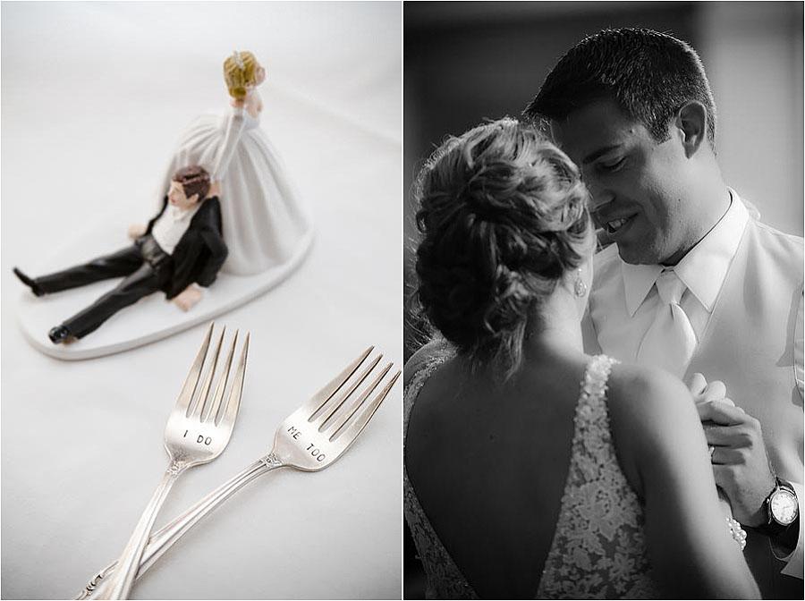 custom wedding cake engraved spoons