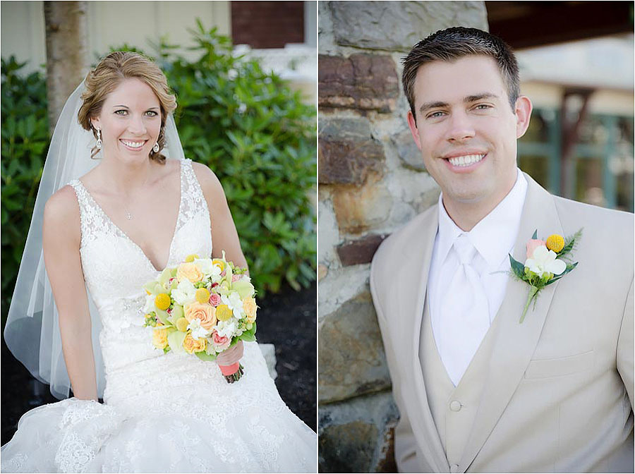 wedding bride and groom portraits