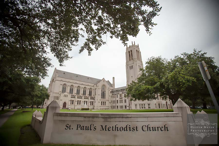 st. paul's methodist church houston texas wedding photos