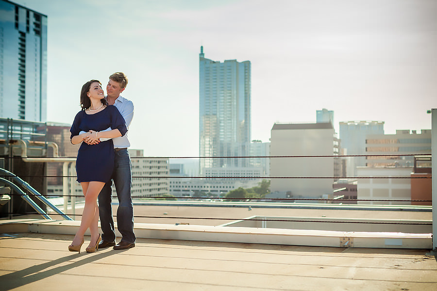 austin engagement portraits downtown