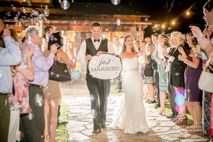 Wedding grand exit photos
