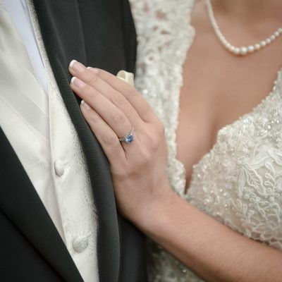 sapphire wedding engagement ring