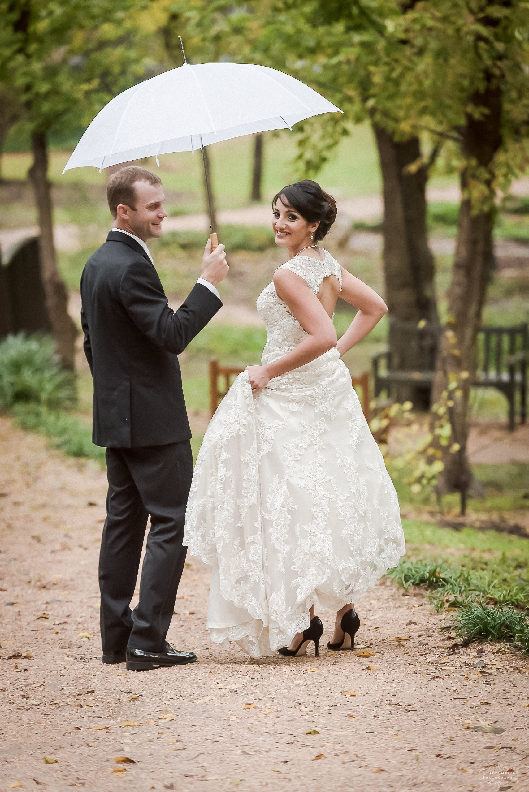 umlauf wedding and umbrella