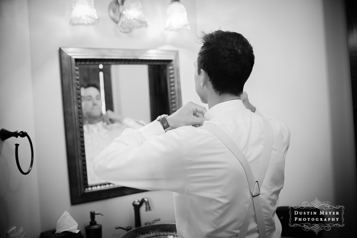Groom Getting Ready, The Vineyard at Florence Wedding
