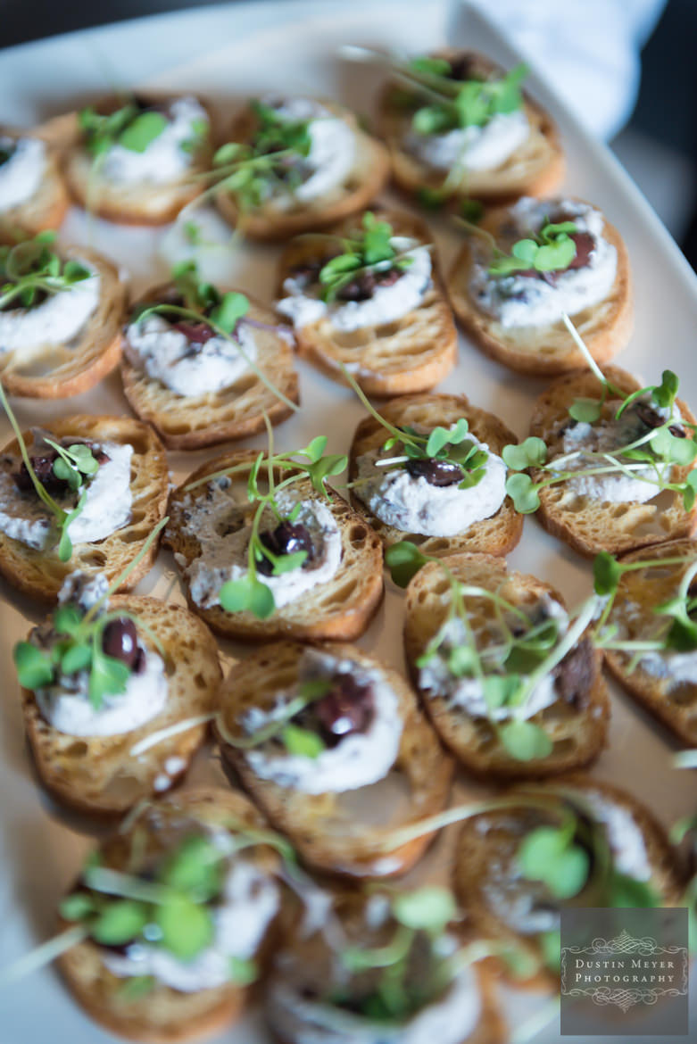 Wedding cocktail hour hors d'oeuvres | Austin Wedding Photographers