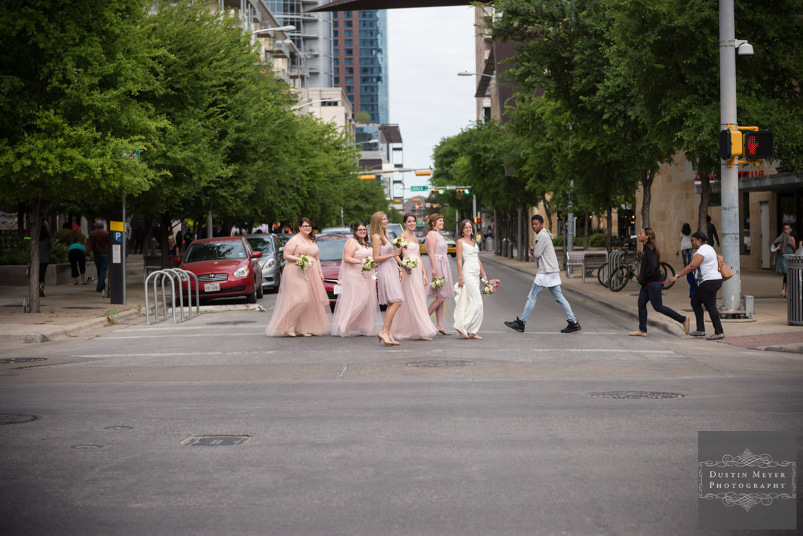 Bridesmaids bridal gowns | Downtown Austin Wedding