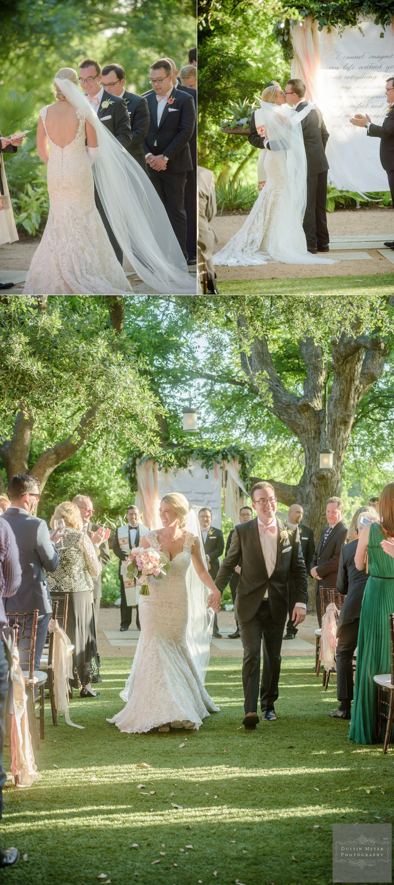 four seasons wedding, bride and groom outdoor wedding ceremony