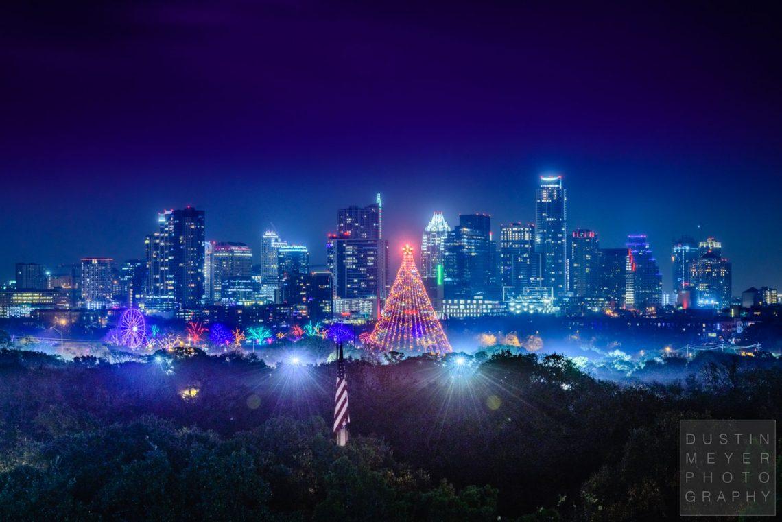 Zilker Park Christmas Tree Austin TX 2016