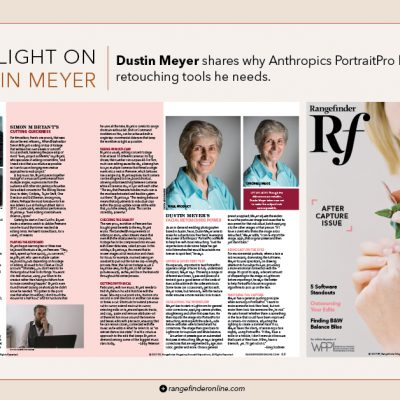 Rangefinder Magazine Professional Wedding and Portrait Photographer Dustin Meyer