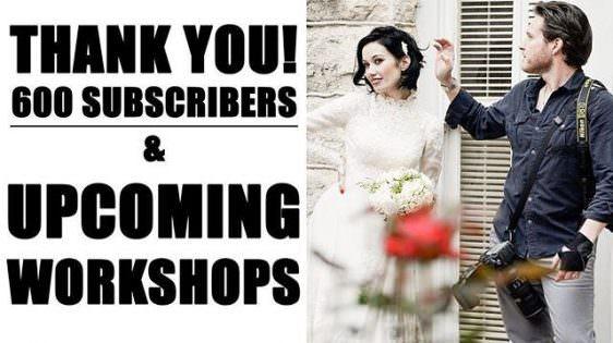 Instagram: THANK YOU 600 SUBSCRIBERS! | Dustin Meyer #photography #weddingphotography #workshop #youtube