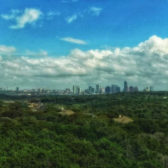 Instagram: Enjoying the view while at work #Austin #ATX #landscape #picoftheday