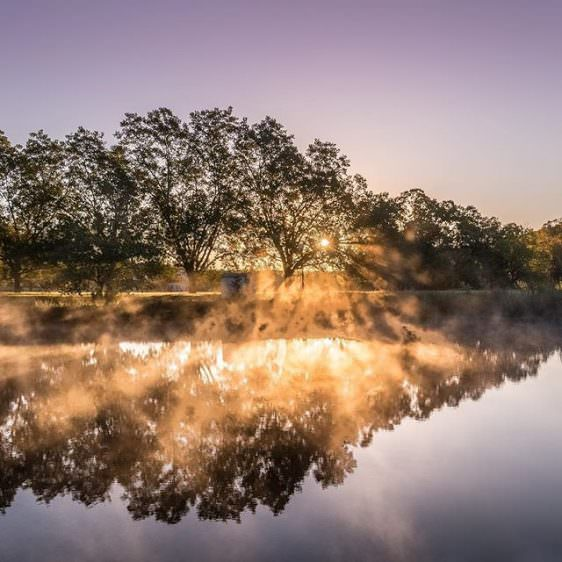 Instagram: I am so ready for daylight savings to end. It's too dark in the mornings!#Sunrise #Landscape #PicOfTheDay #Water #Fog #Photography