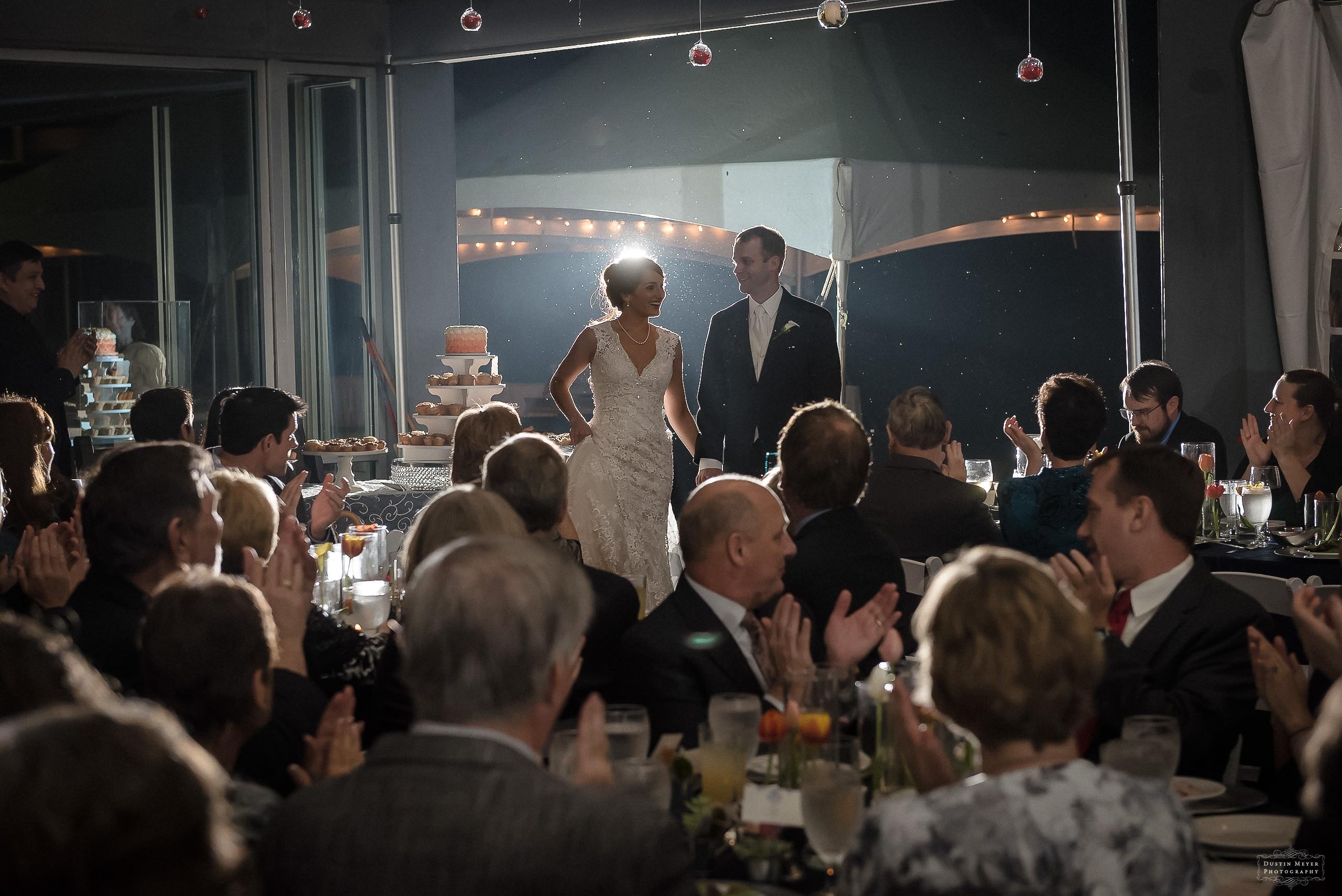umlauf sculpture garden bride and groom grand entrance reception