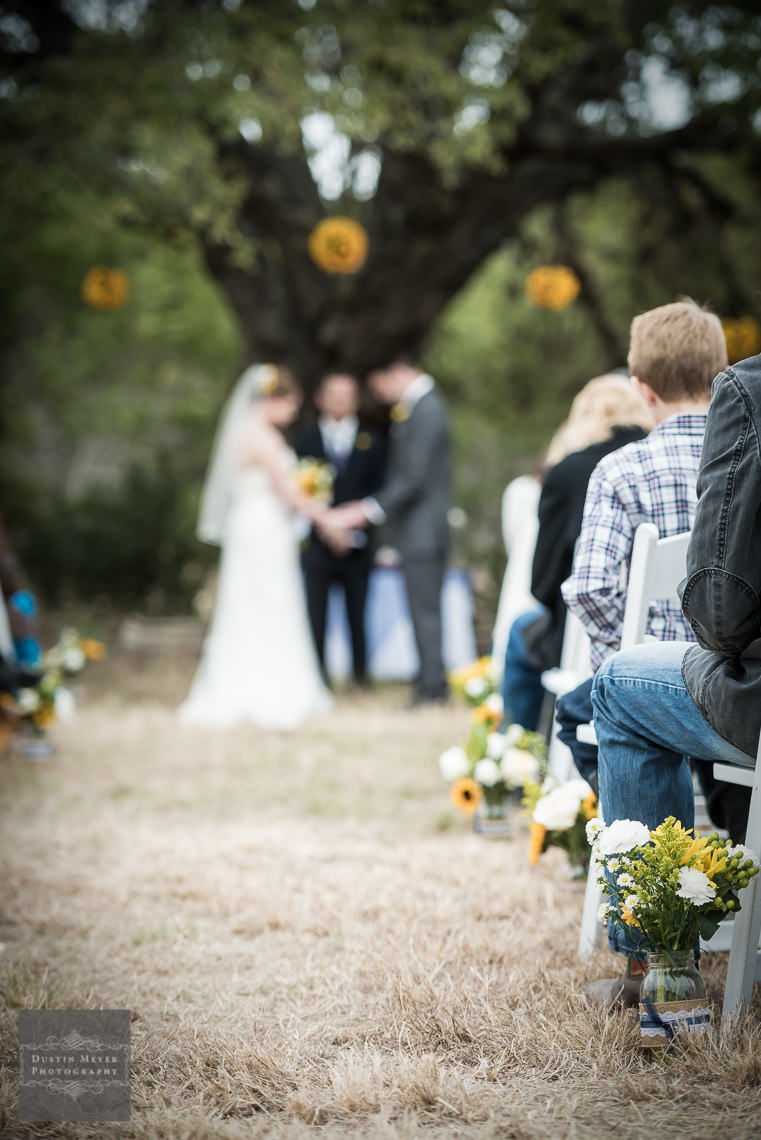 outdoor nature ceremony wedding photography hill country wedding
