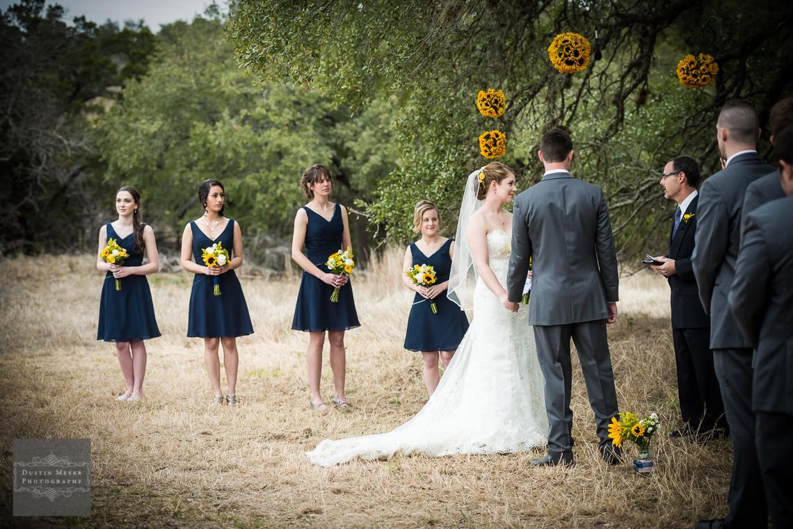 outdoor nature ceremony wedding austin wedding photographers photography hill country wedding